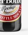 Green Glass Dark Beer Bottle Mockup
