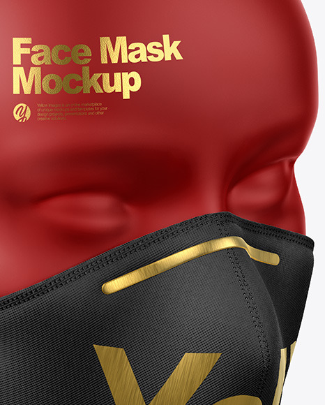 Face Mask with Nose Grip Mockup