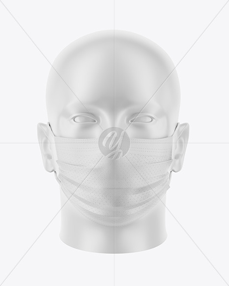 Face Mask Mockup In Apparel Mockups On Yellow Images Object