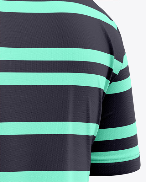 Zip Neck Polo Mockup