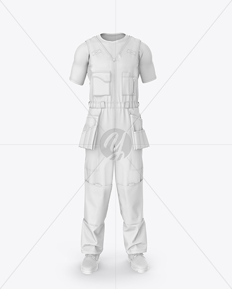Working Overalls Mockup – Front  View