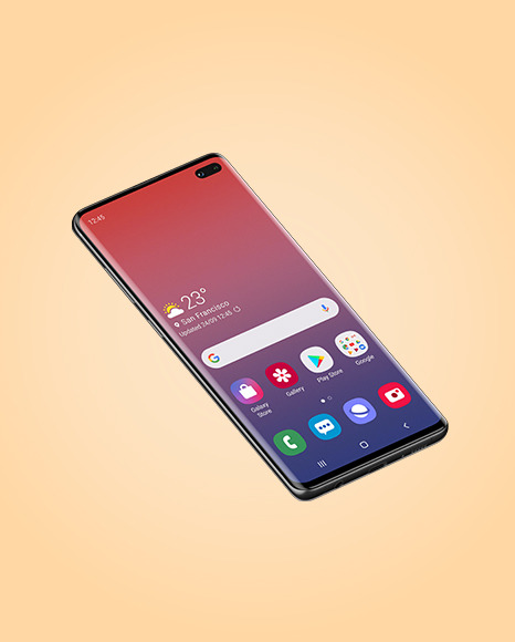 Onyx Samsung Galaxy S10 Mockup