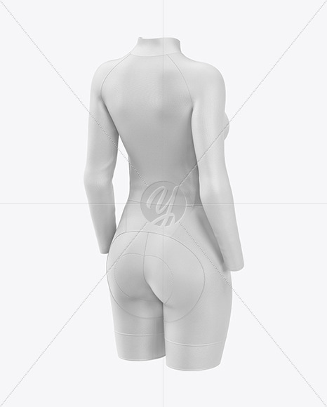 Women's Cycling Suit Mockup