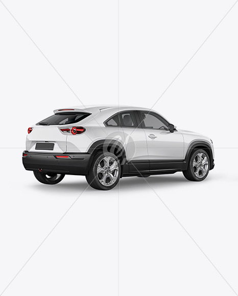 Compact Crossover SUV Mockup - Back Half Side - Yellowimages Mockups