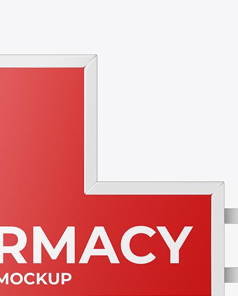 Pharmacy Signage w/ Glossy Frame Mockup