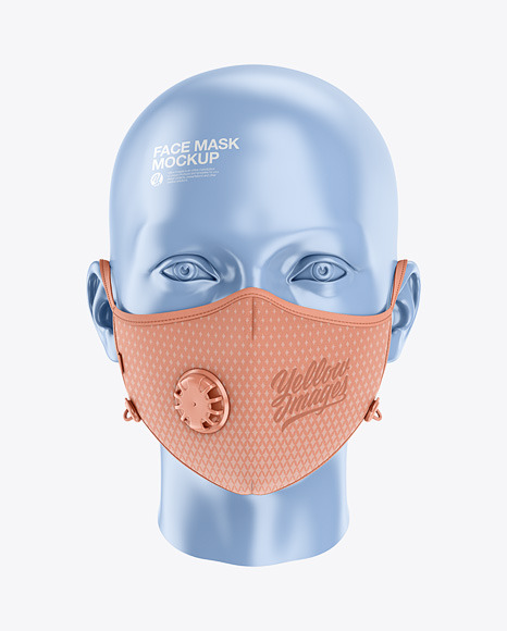 Anti Pollution Face Mask With Exhalation Valve Front View In