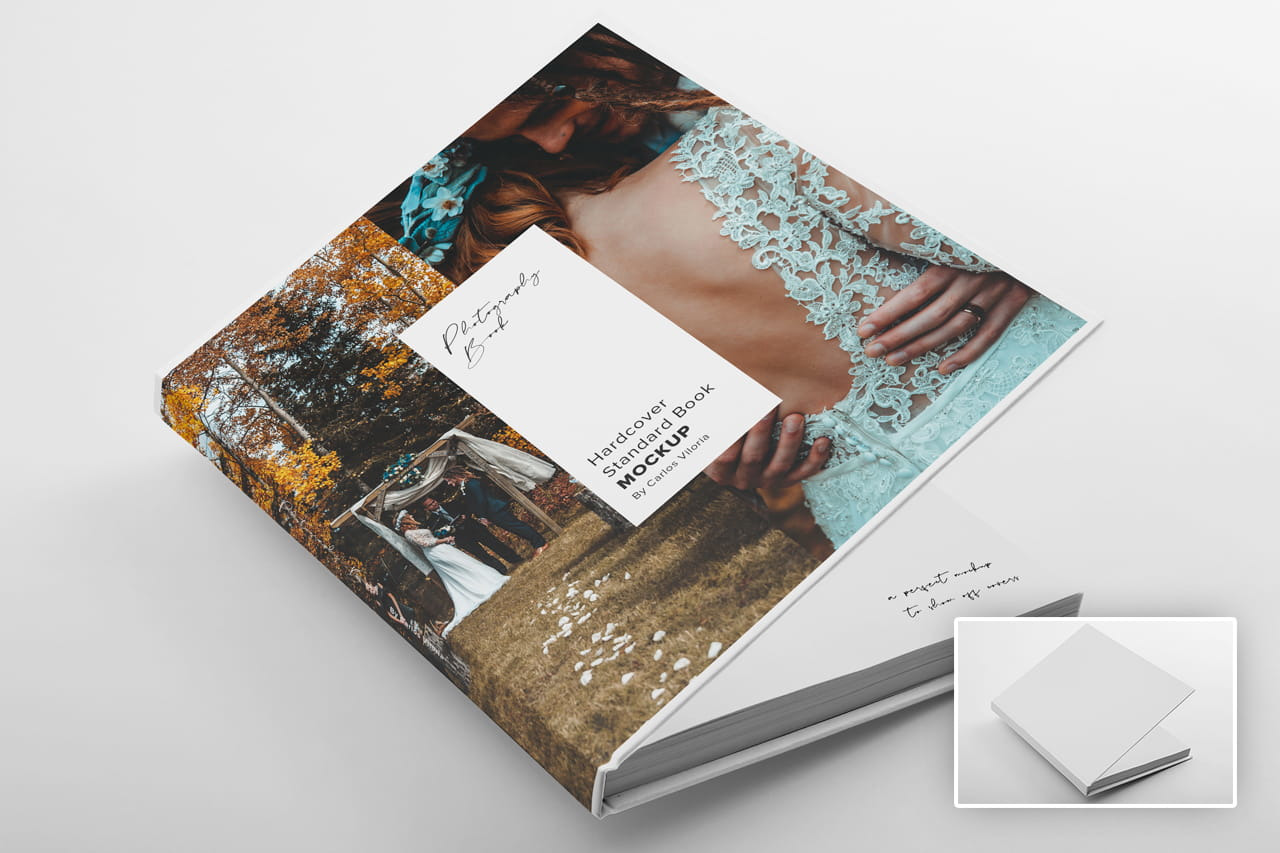 Download Hardcover Photo Book Mockup 01 In Stationery Mockups On Yellow Images Creative Store Yellowimages Mockups