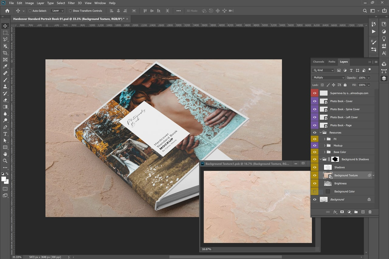 Download Hardcover Photo Book Mockup 01 In Stationery Mockups On Yellow Images Creative Store PSD Mockup Templates