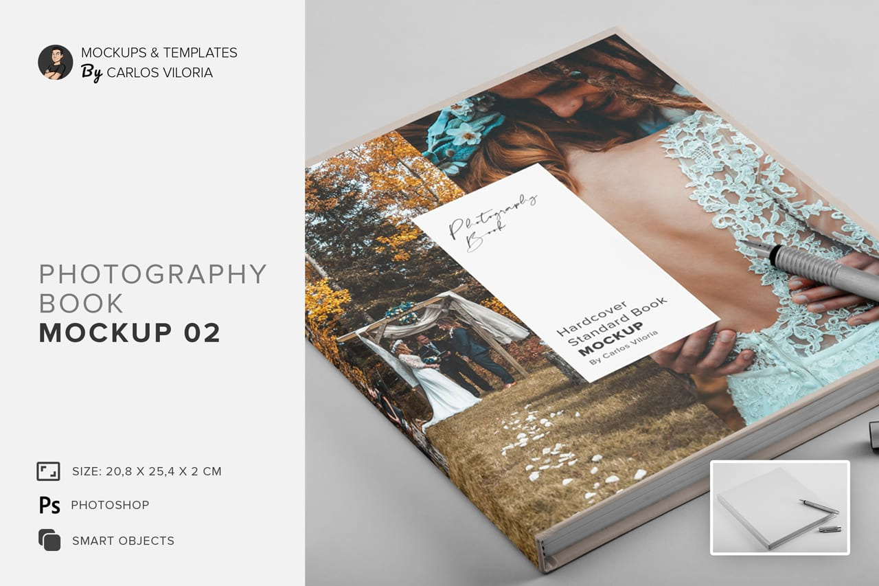 Download Hardcover Photo Book Mockup 02 In Stationery Mockups On Yellow Images Creative Store PSD Mockup Templates