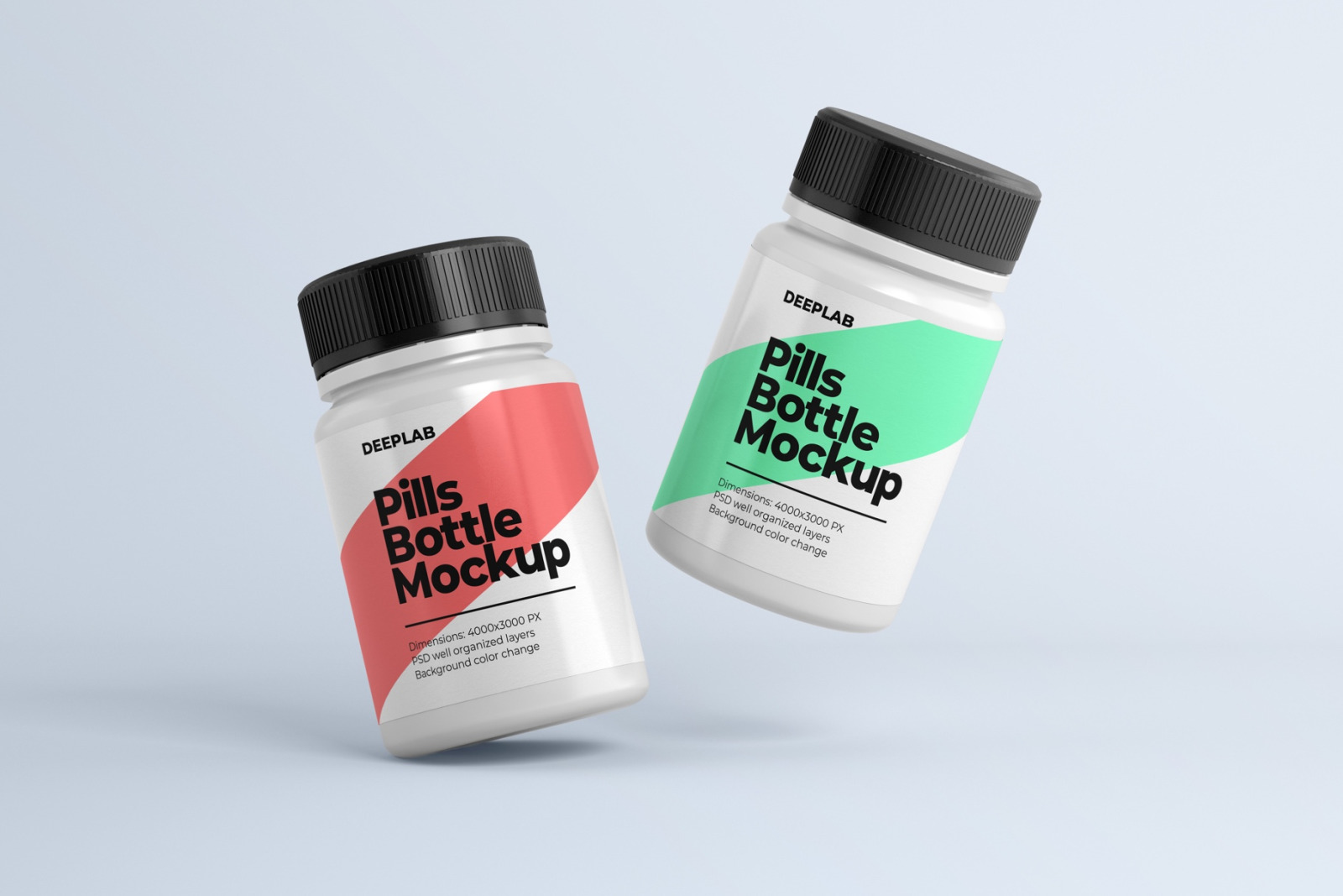Pill bottle premium mockup set