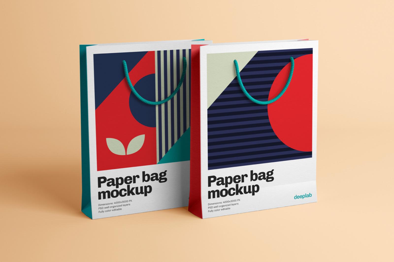Paper Bag Mockup - 10 Sets