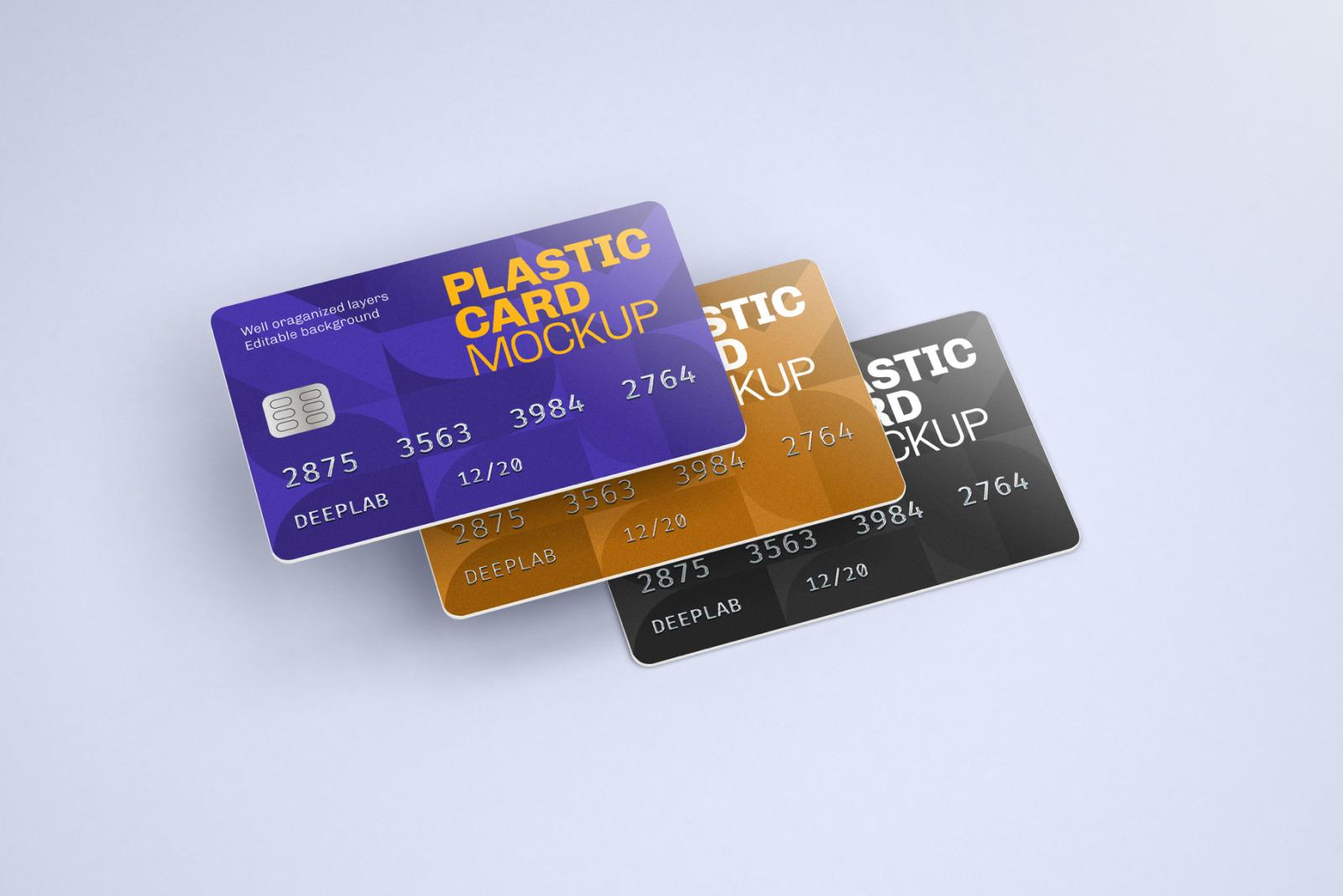 Plastic Card Mockup Set - 21 styles