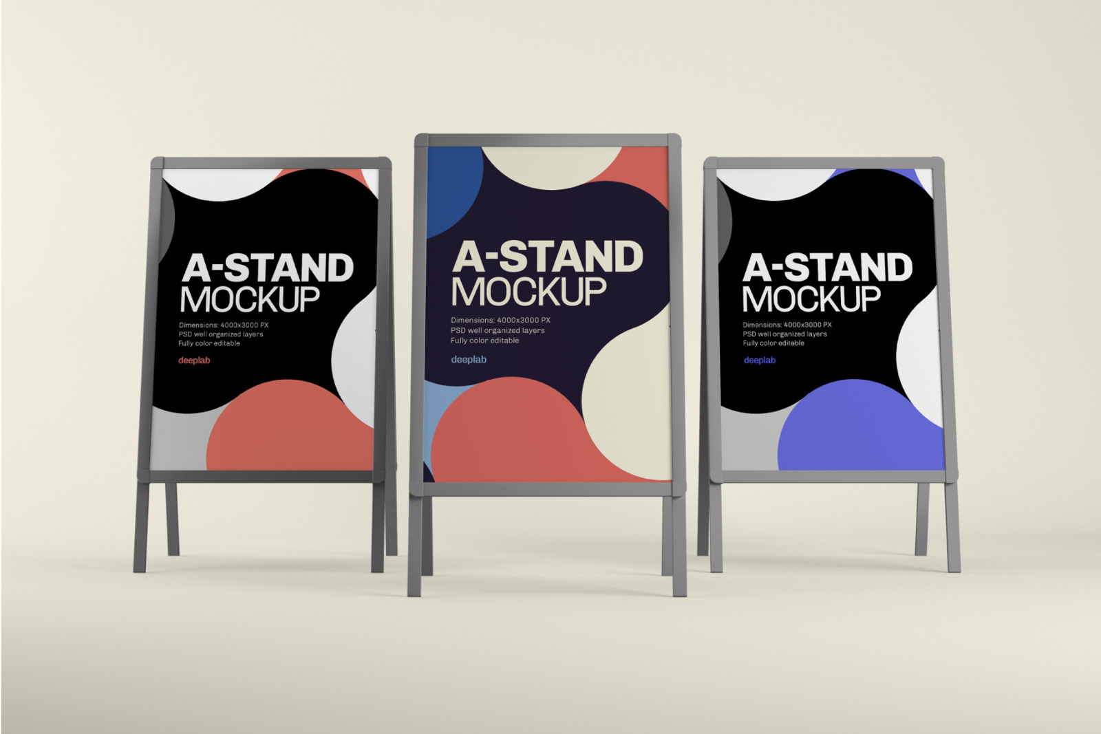 Advertising A-Stand Mockup Set