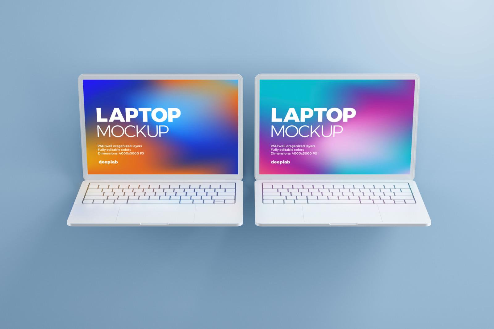 Macbook Pro Clay Mockup set
