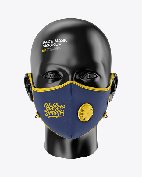 Anti-Pollution Face Mask with Exhalation Valve - Front View