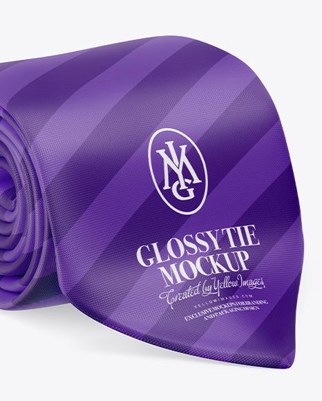 Glossy Tie Mockup