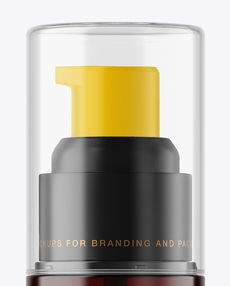 Download Amber Airless Pump Bottle Mockup In Bottle Mockups On Yellow Images Object Mockups PSD Mockup Templates