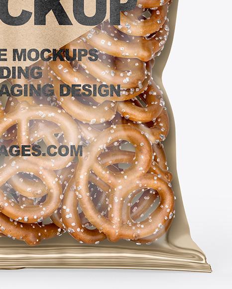 Download Bag With Mini Pretzels Mockup PSD - Free PSD Mockup Templates