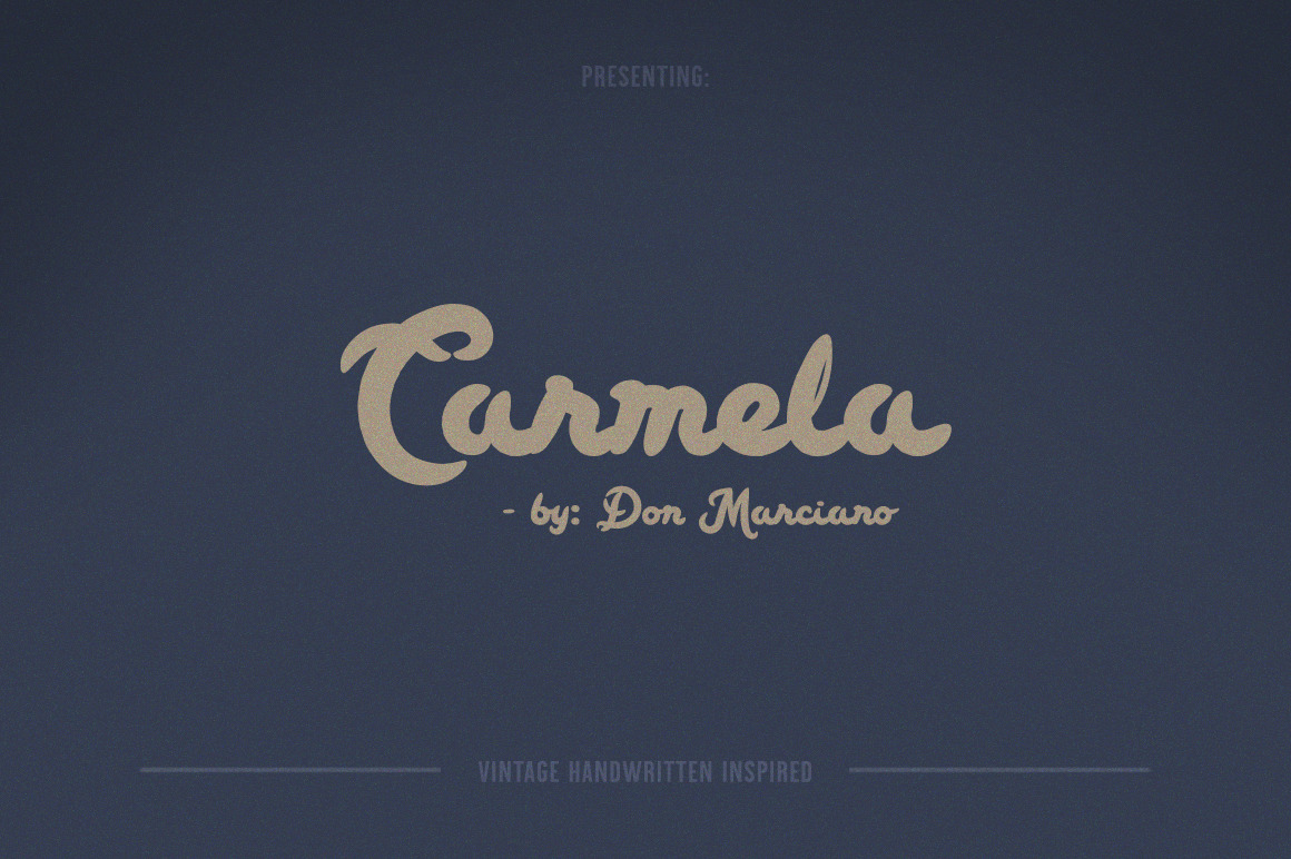 Carmela Bold Script