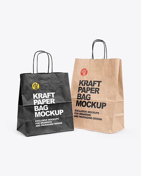 Two Paper Bags Mockup