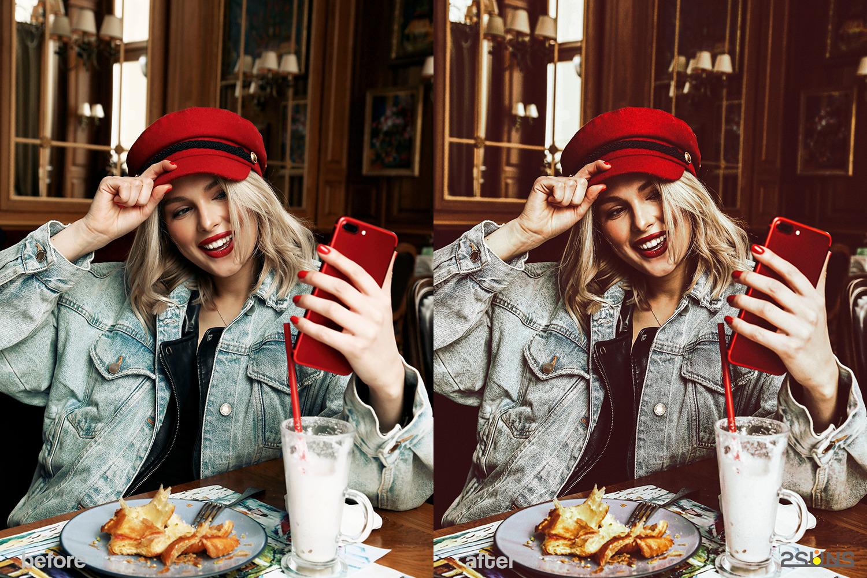 Blogger red lightroom presets