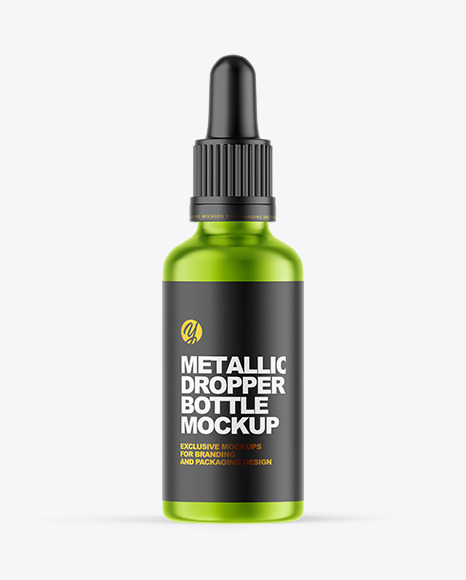 Metallic Dropper Bottle Mockup