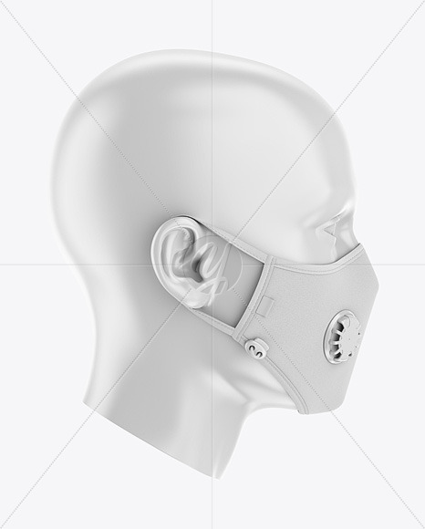 Anti-Pollution Face Mask with Exhalation Valve - Side View