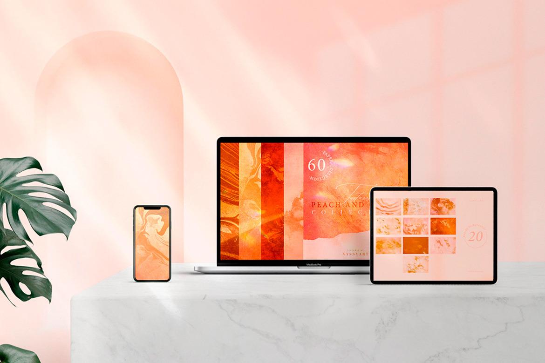 60 Peach and Cream Textures