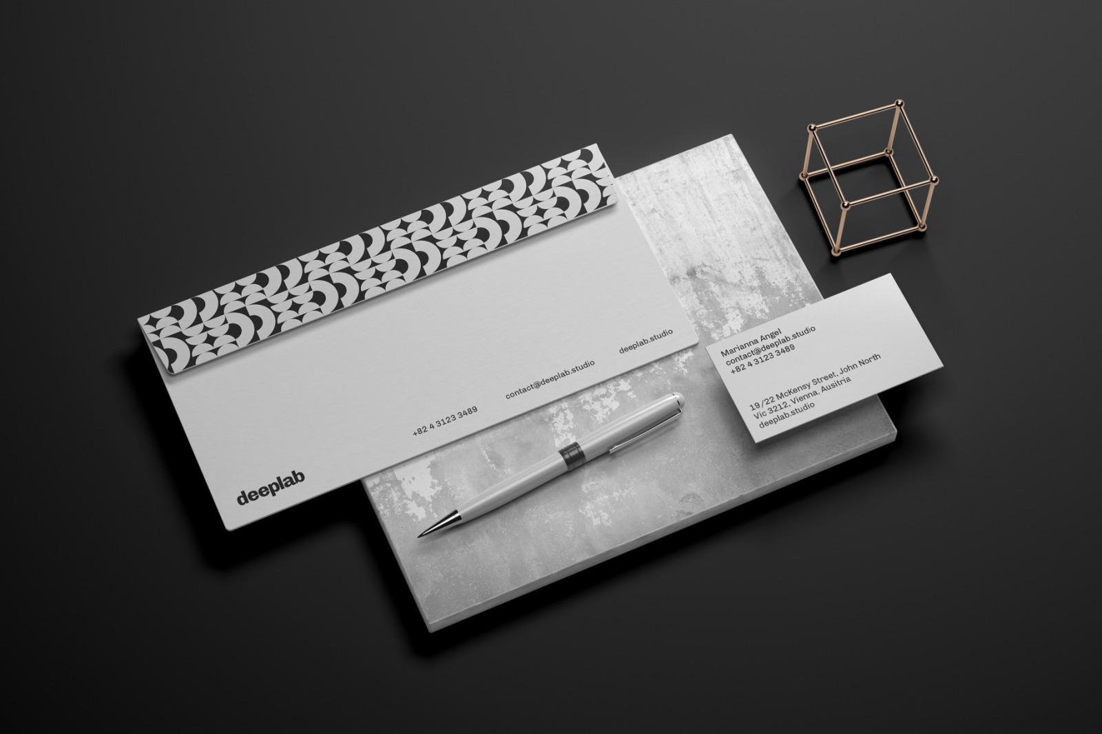 Elegant Stationery Branding Mockup Set