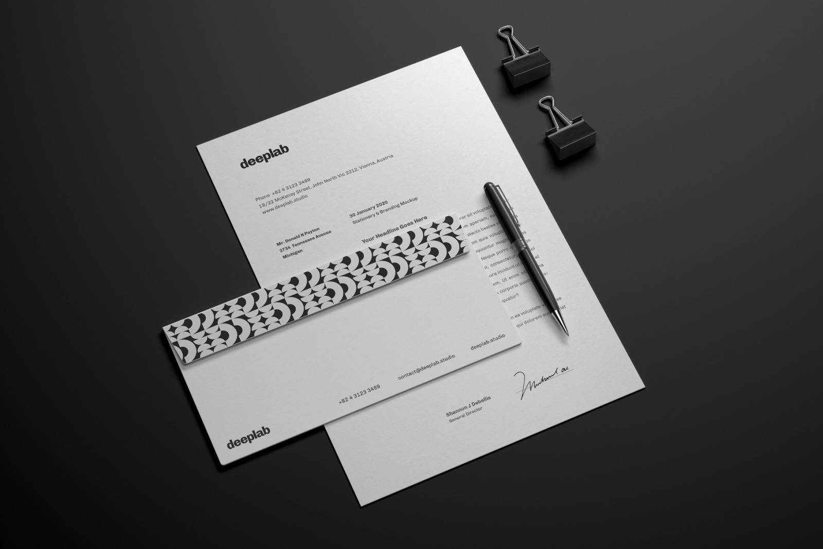 Elegant Stationery Branding Mockup Set
