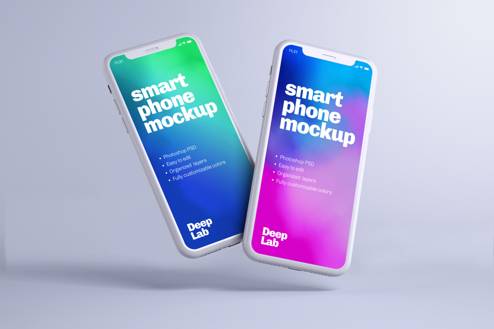 Download Iphone 11 Pro Clay Mockup Set In Device Mockups On Yellow Images Creative Store PSD Mockup Templates