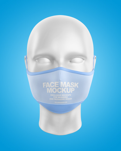 Download Face Mask With Nose Grip Mockup Yellow Images