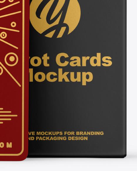 Tarot Cards with Box Mockup