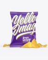 Matte Snack Package w/ Chips Mockup