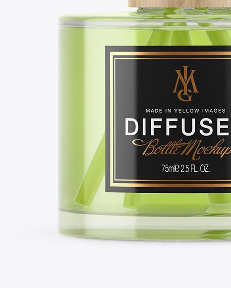 Glass Diffuser Bottle Mockup