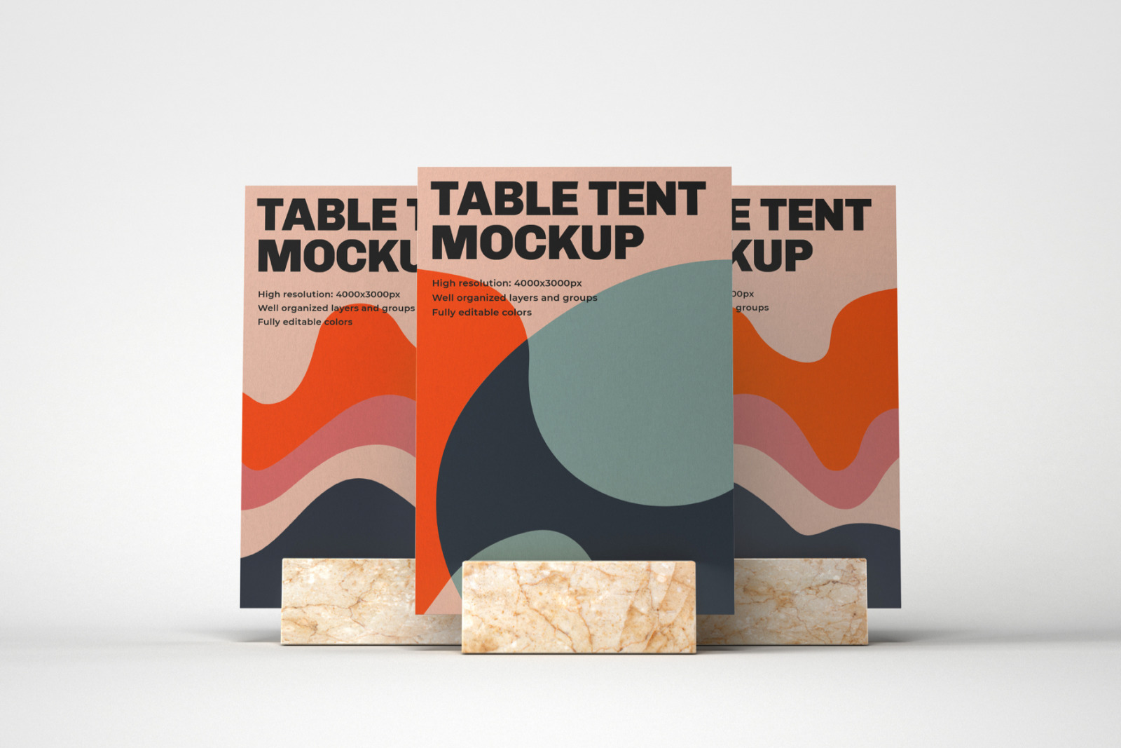 Table Tent and Sign Mockup Set