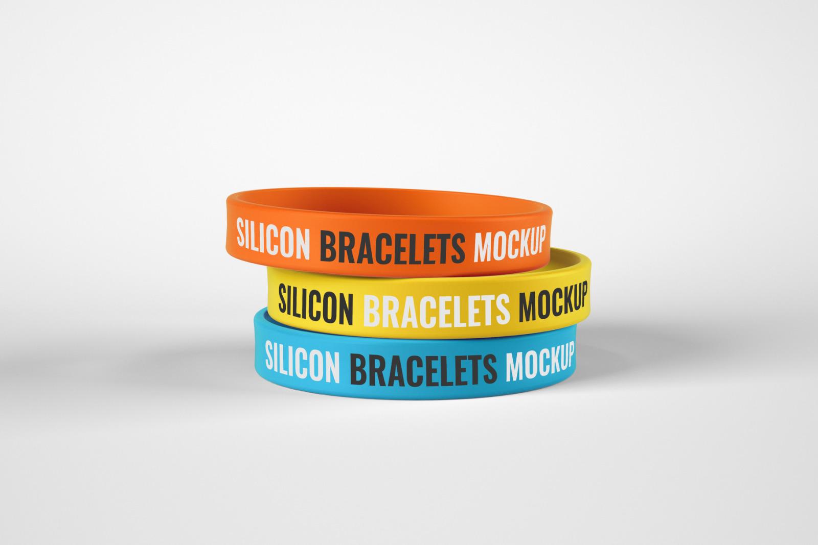 Silicone Rubber Bracelet Mockup