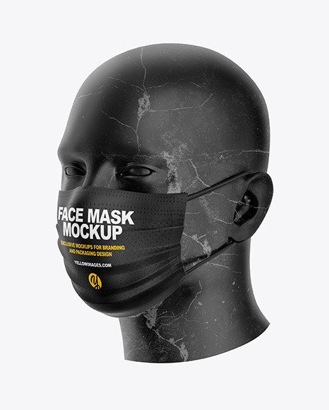 Download Face Mask Mockup In Apparel Mockups On Yellow Images Object Mockups Yellowimages Mockups