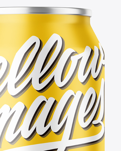Download 250ml Glossy Aluminium Can Condensation Mockup Front View PSD - Free PSD Mockup Templates