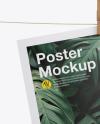 Poster w/ Pin Mockup