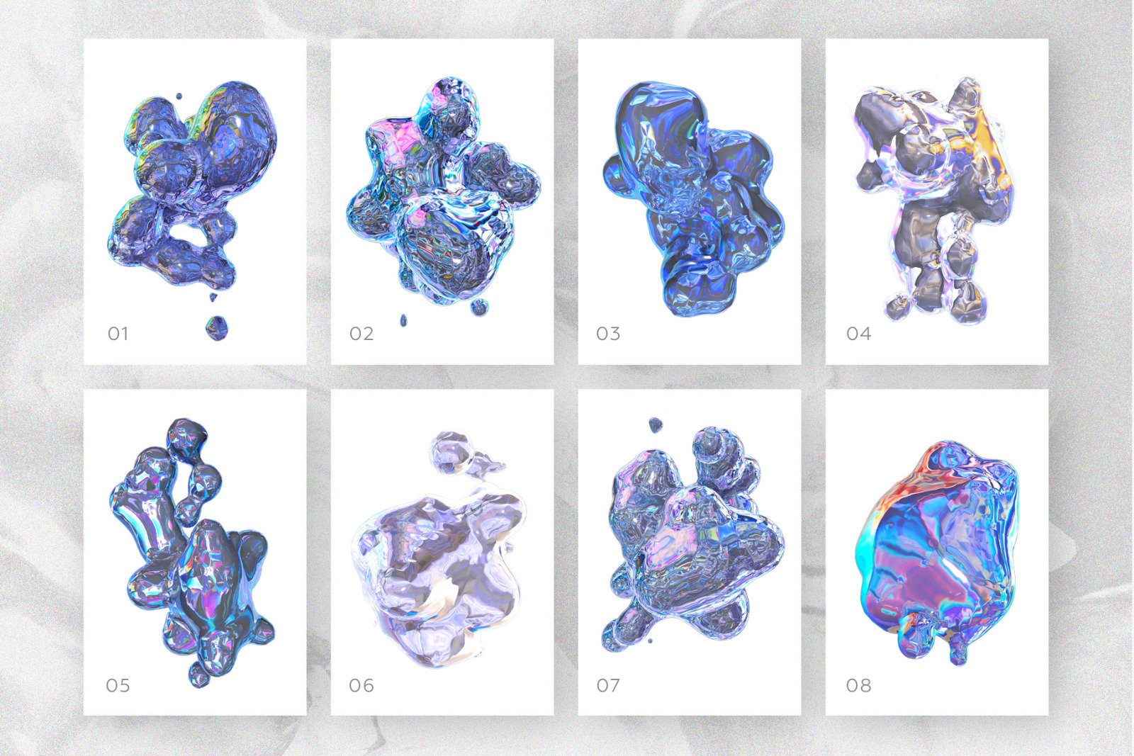 23 HOLOGRAPHIC SHAPES