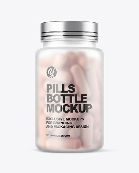 Glass Medicine Bottle Mockup