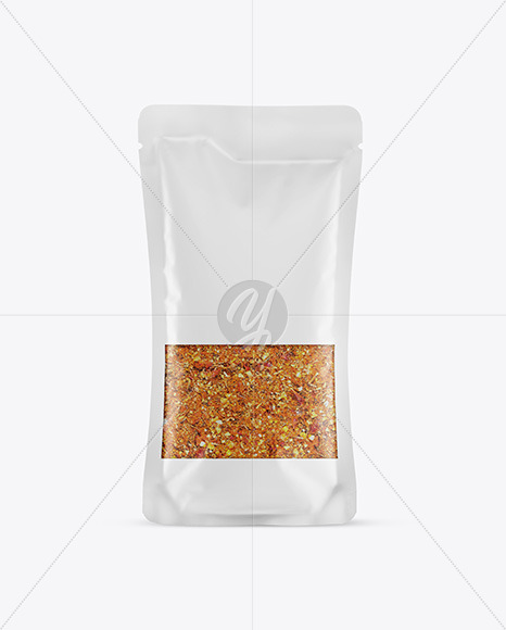 Food Bag With Seasoning Mockup