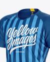 Men's Soccer Jersey Mockup – Front Half-Side View