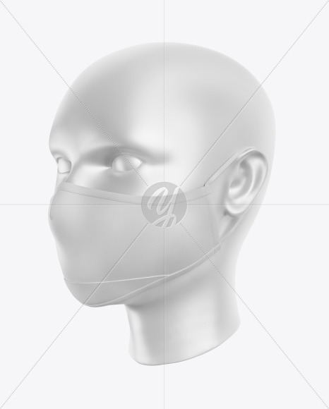 Download Folded Face Mask Mockup Yellow Images