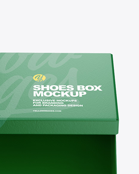 Paper Shoes Box Mockup