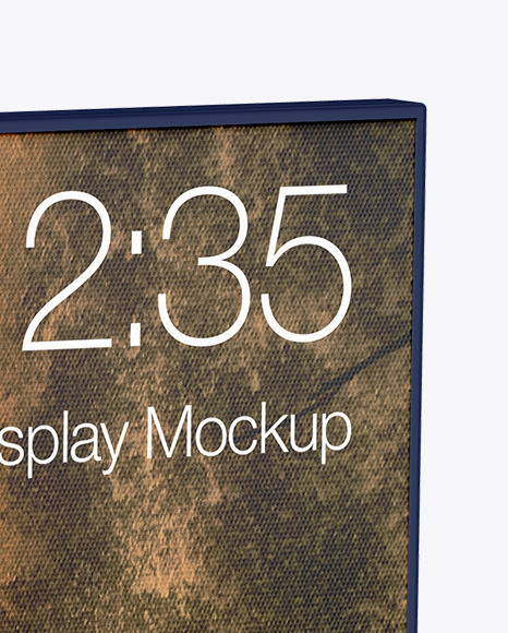 Glossy Multi Display Mockup - Half Side View