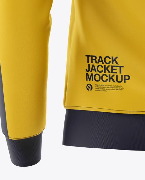 Men's Long Sleeve Track Jacket Mockup - Back View
