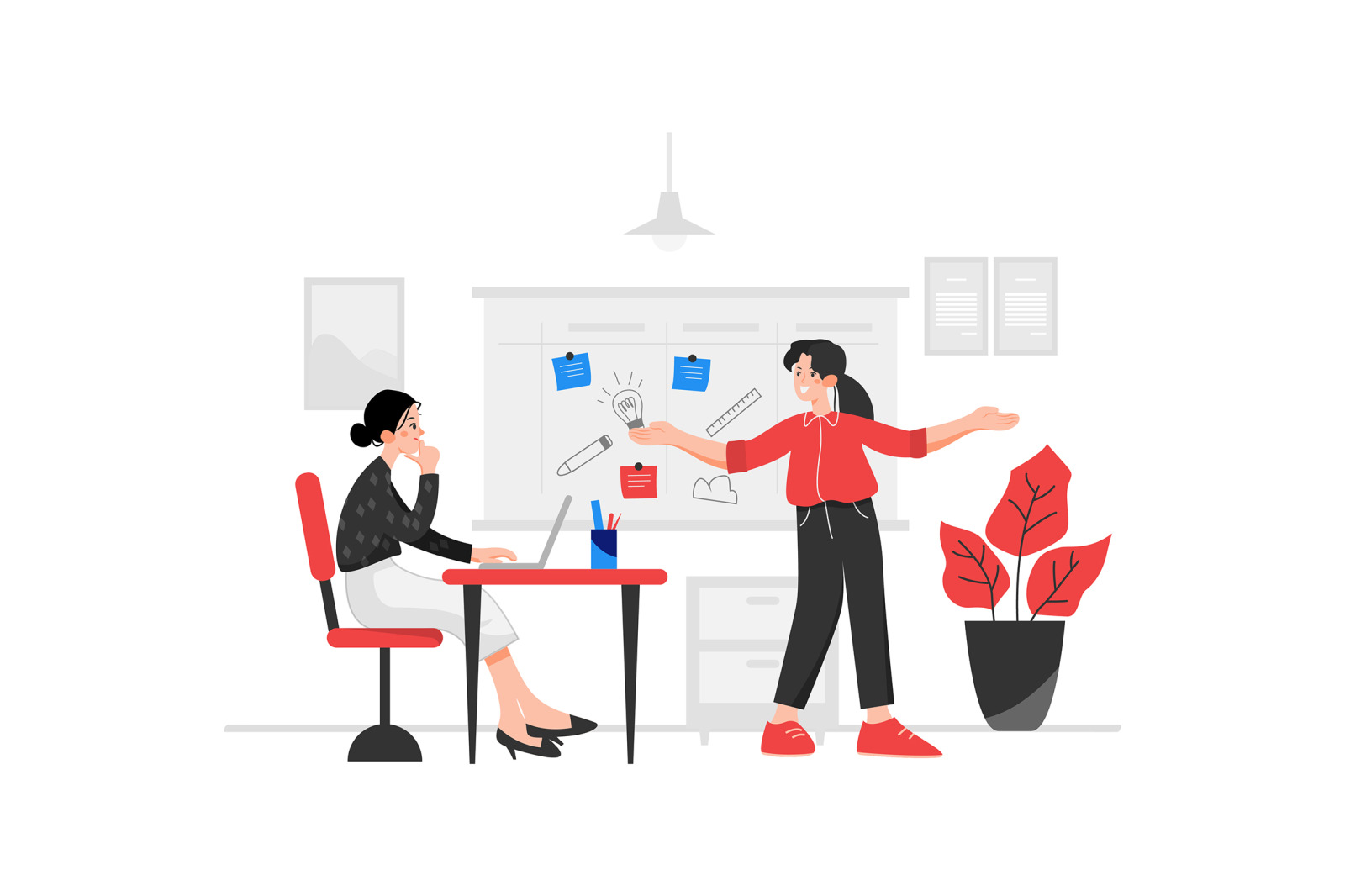 M72_Office Management Illustrations