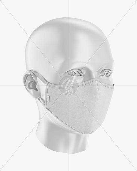 Face Mask Mockup Front Half Side View In Apparel Mockups On